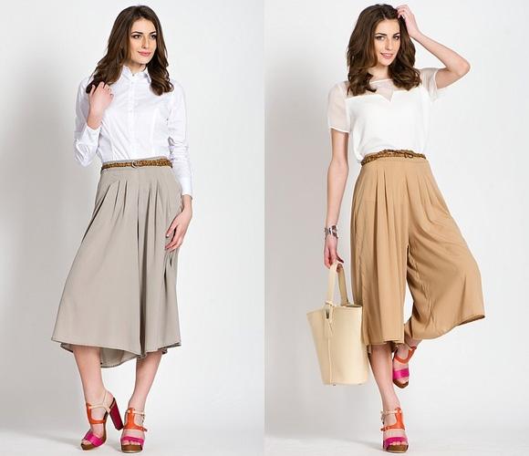 Купить модную широкую юбку