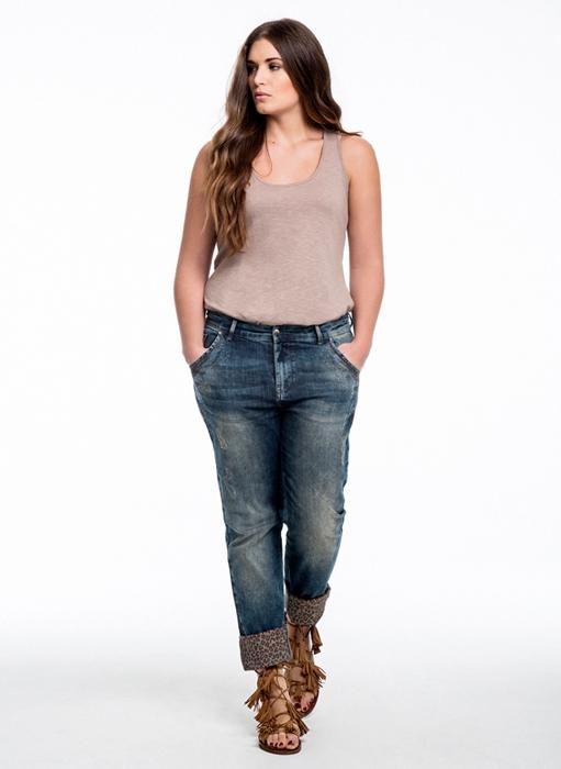 Модные женские брюки для лета для полных