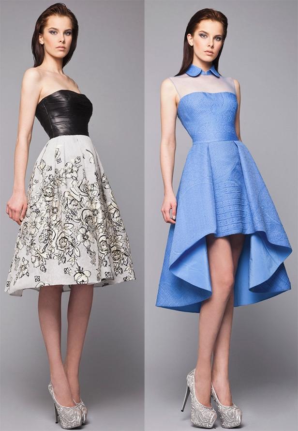 Коктейльное платье зимой