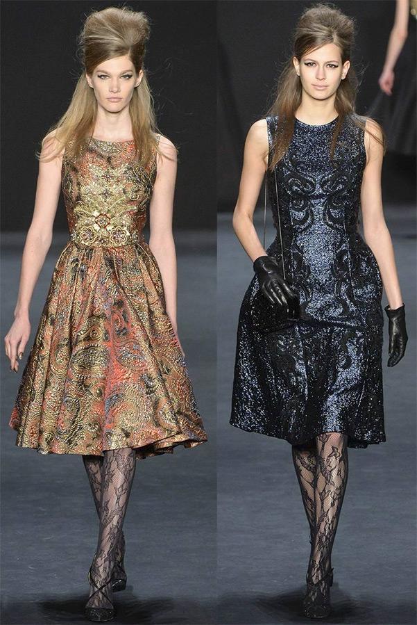 a89247980504807 Но говоря о нарядных платьях, необходимо отметить и вторую, практически  противоположную тенденцию: короткий рукав и яркие взрывные расцветки.
