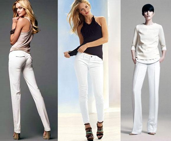 Смотреть женщин в белых брюках фото 705-420