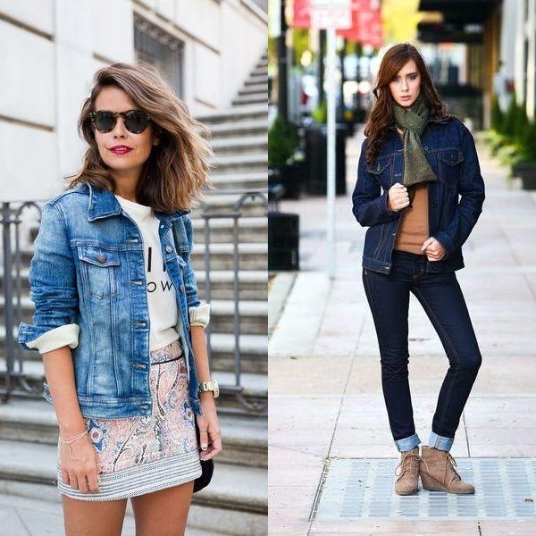 фото джинсовая женская одежда