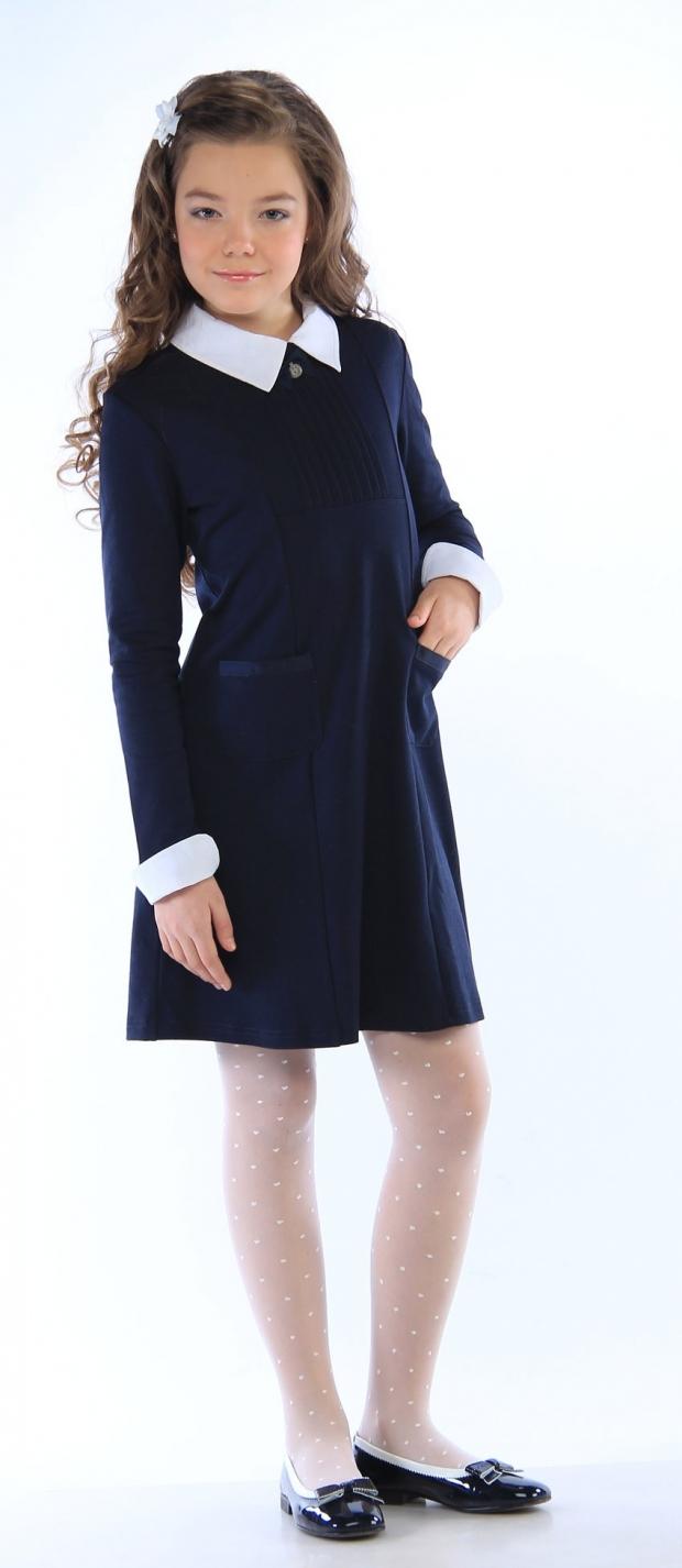 Школьная форма платья синие