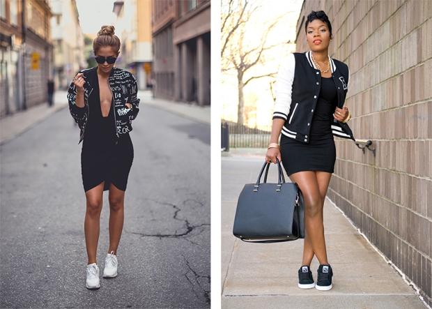 Черно белая куртка с чем носить
