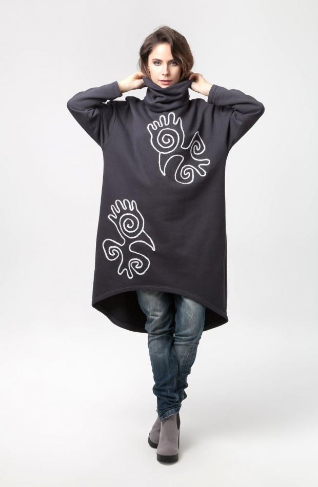 Платье в виде балахона