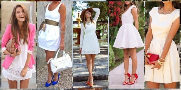 Бирюзовые туфли и белое