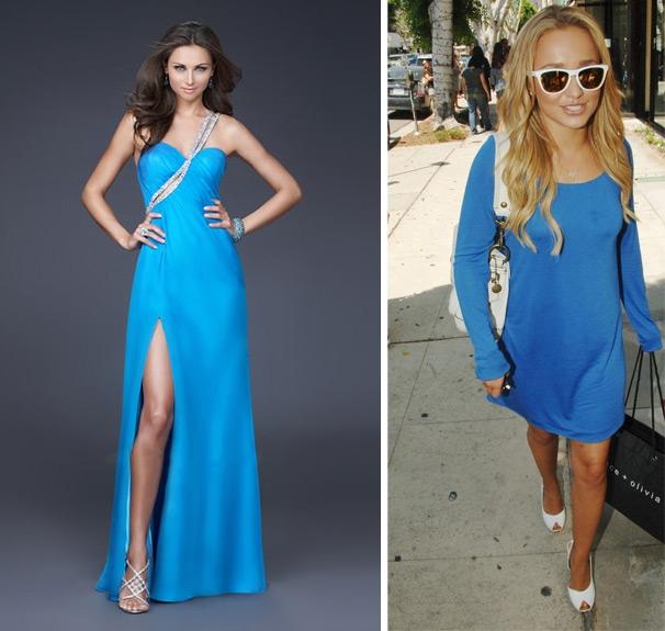 Чулки к голубому платью