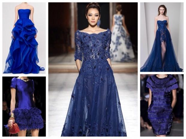 Что надеть к синему кружевному платью