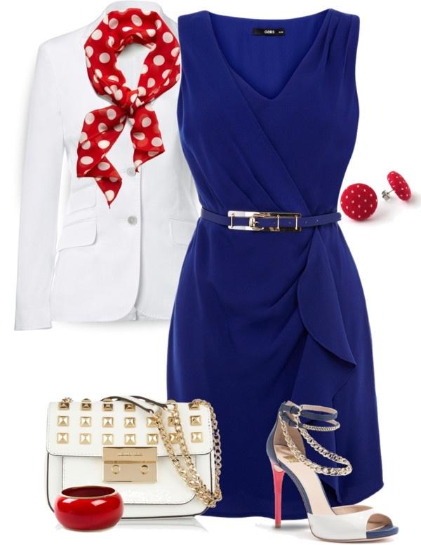 Синие платье с чем сочетать