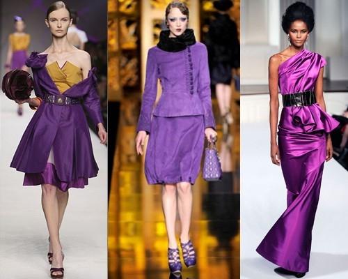 Что надеть с фиолетовым платьем