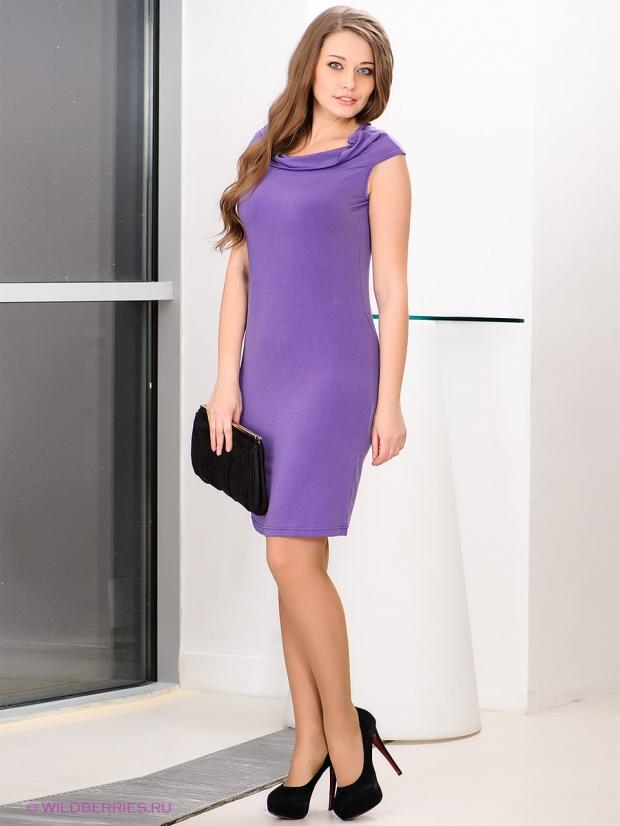 Фасон фиолетового платья