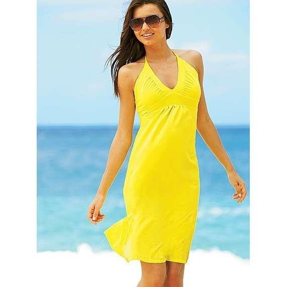 Желтые платья короткие фото