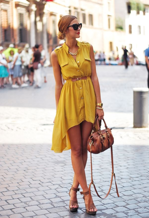 С чем носить летнее платье рубашку