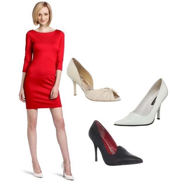 af02ac7f7ab Как выбрать и с чем носить красное платье  фото