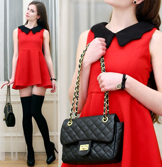 Красное платье комплект