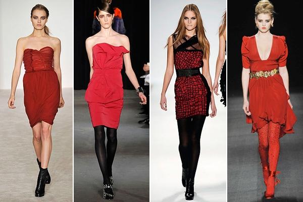 Что надеть под прозрачное красное платье