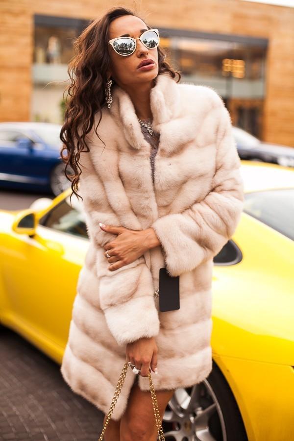Шуба цвет пудра с чем носить
