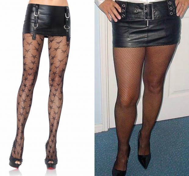 Сексуальные женщины в кожаных юбках