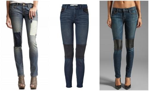 В джинсах дырка на колене