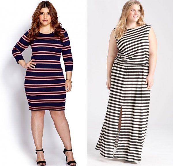 Модные и стильные платья для полных