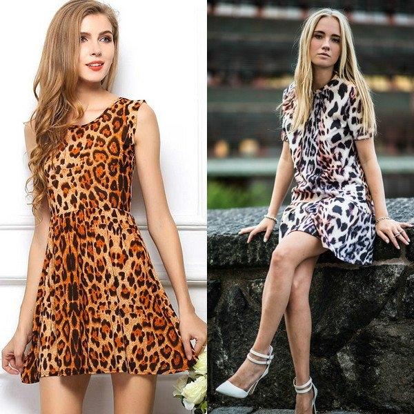 Леопардовое платье модно