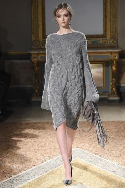 платьев вязанных шелка модели из