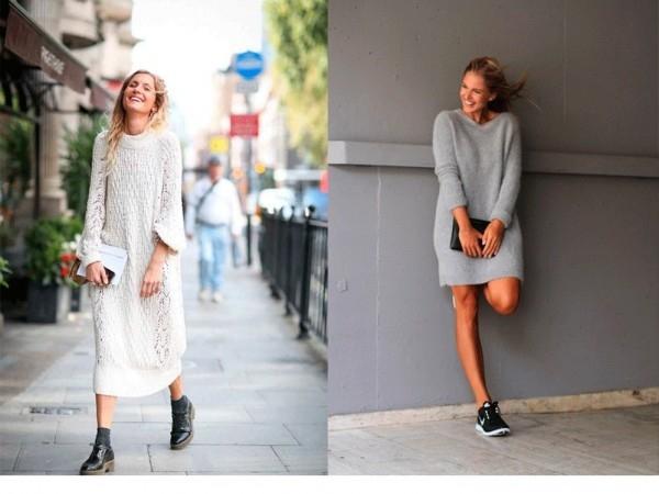модные вязаные платья весна лето 2017 год фото