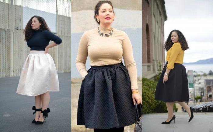 Пышные юбки на полных женщин
