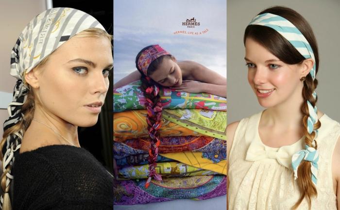 Платок на голове и платье фото