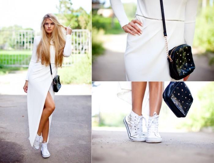 Свадебные платье и кроссовки