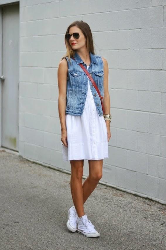 Короткие платья под кеды