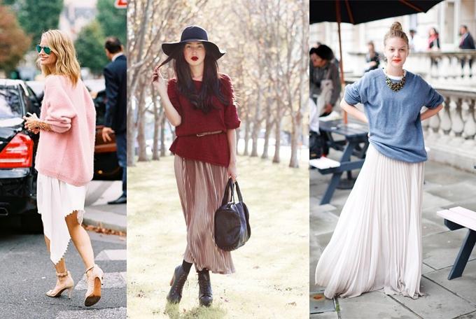 Джемпер и длинная юбка