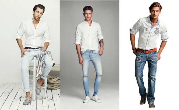 Мужские узкие джинсы