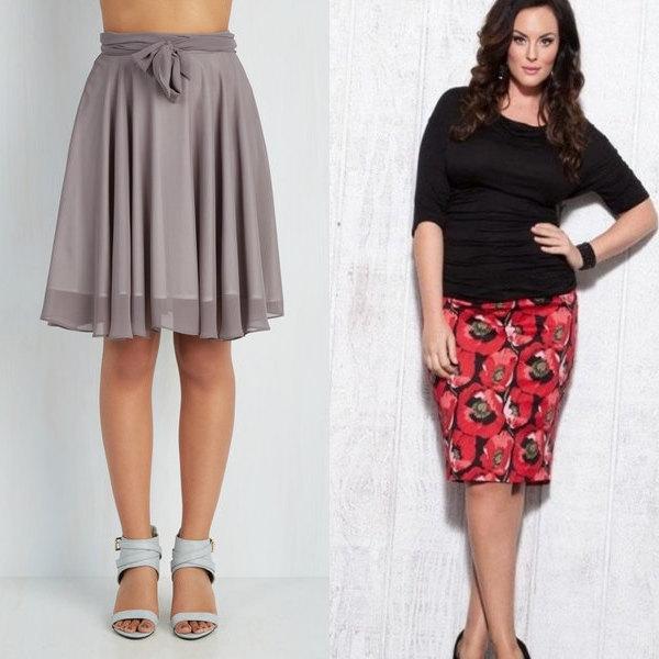 Модель юбки для широких бедер фото