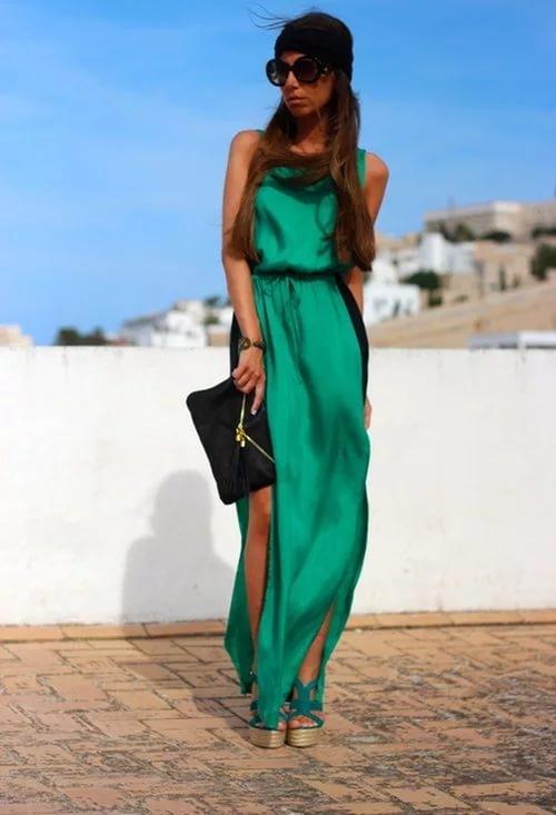 С какой обувью носить длинные платья