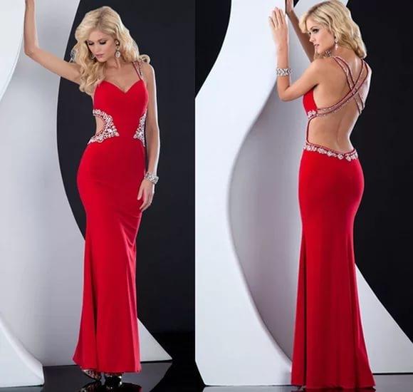 Платья с открытой спиной с чем носить