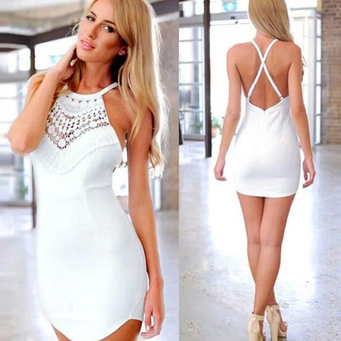 eabce67e5f5 Коктейльное мини платье с открытой спиной – идеальный вариант для посещения  клубной вечеринки