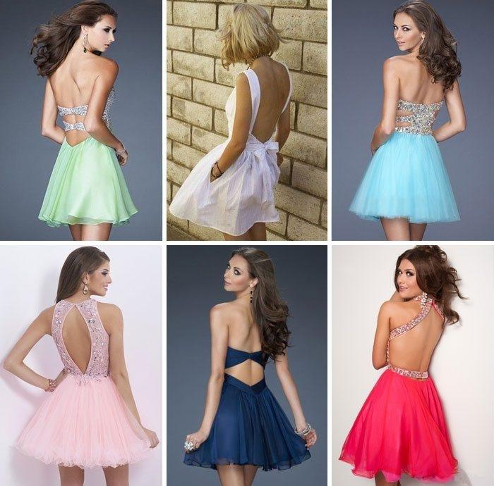 03489150520 Модные платья с открытой спиной весна-лето 2017  фото