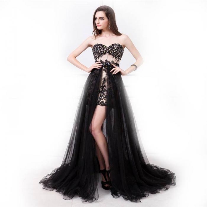 Платье короткое с длинным шлейфом фото
