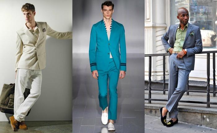 Деловой костюм и мокасины - сочетание не совместимое. Но это касается  исключительно классических брючных двоек, которые носят офис-менеджеры на  работу. 1edd4d2fc49