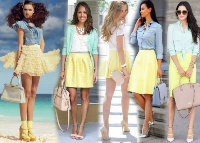 Светлая юбка на лето