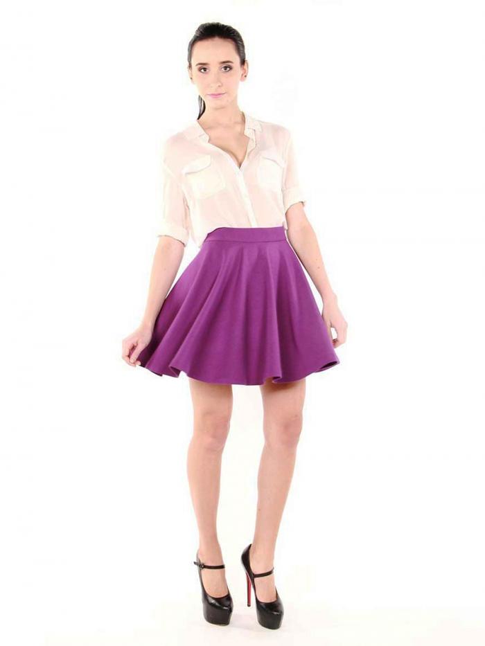 Фиолетовая юбка короткая