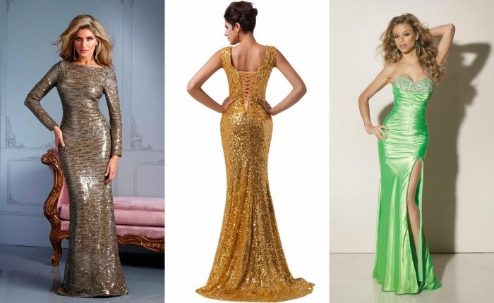 Блестящая ткань для платья