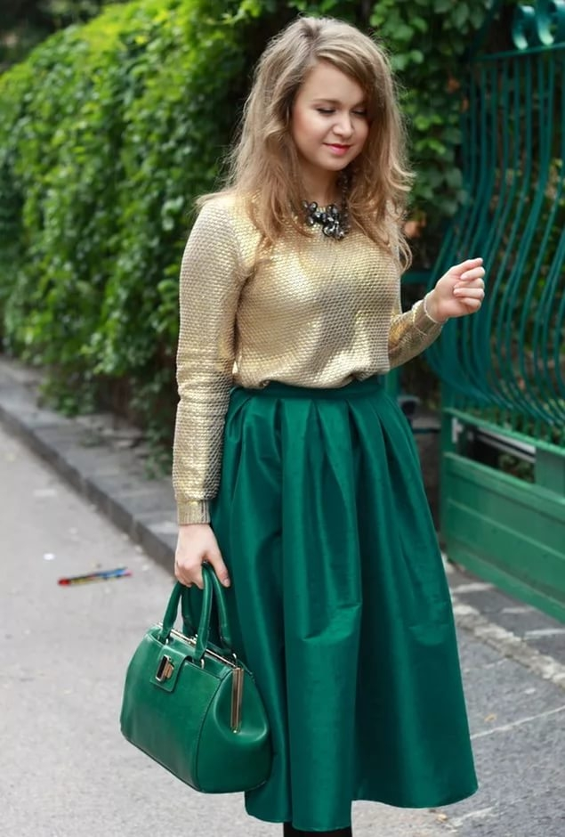 Кофточка для зеленой юбки