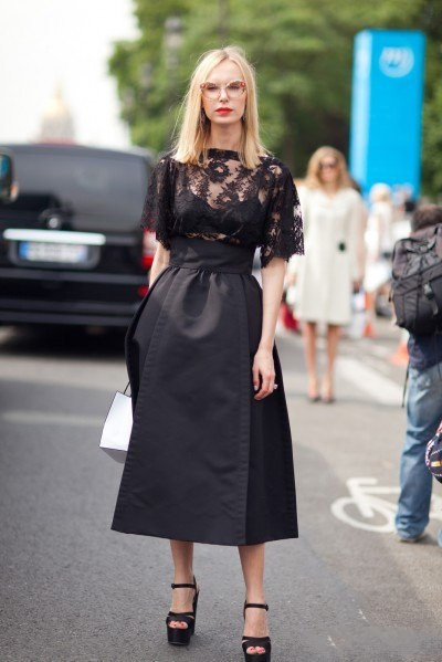 Как выбрать черную юбку