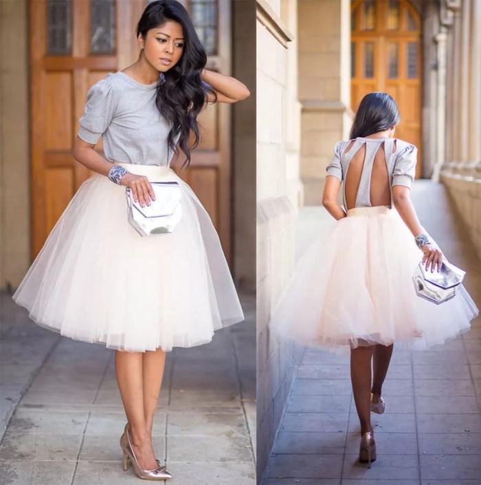 Что одеть с юбкой пачкой на свадьбу