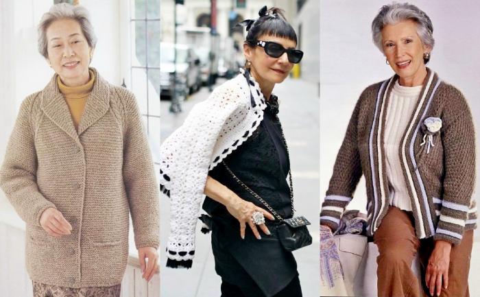 a0000261af95f7f Вязаные вручную, тёплые и уютные кофты так идут женщинам зрелых лет!  Незамысловатый фасон, красивая вязка, мягкая пряжа, эти вещи ассоциируются  с домом и ...