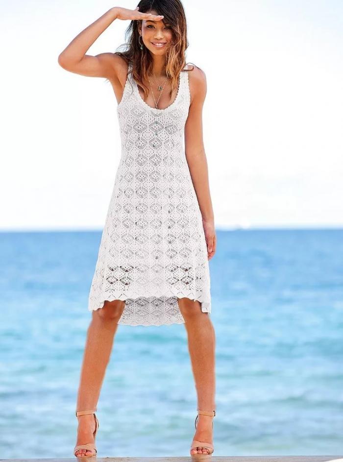 Фото пляжных вязанных платьев