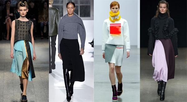 Модные юбки зимние