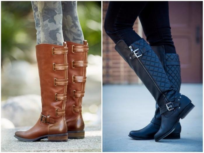 какие сапоги в моде зимой 2019